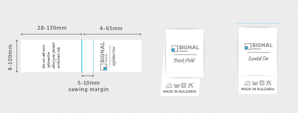 Book Fold Fabric Labels