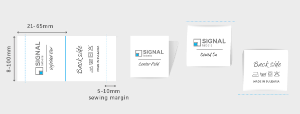Center Fold & Long Center Fold Fabric Labels