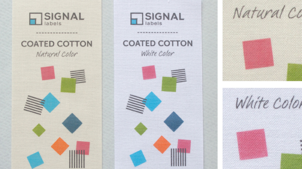 Natural or white cotton for printed labels