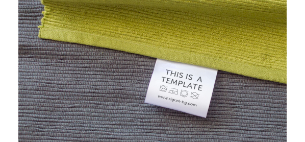 Free Psd Mockup for printed label for Home Textiles
