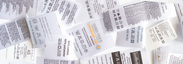Printed labels with instructions