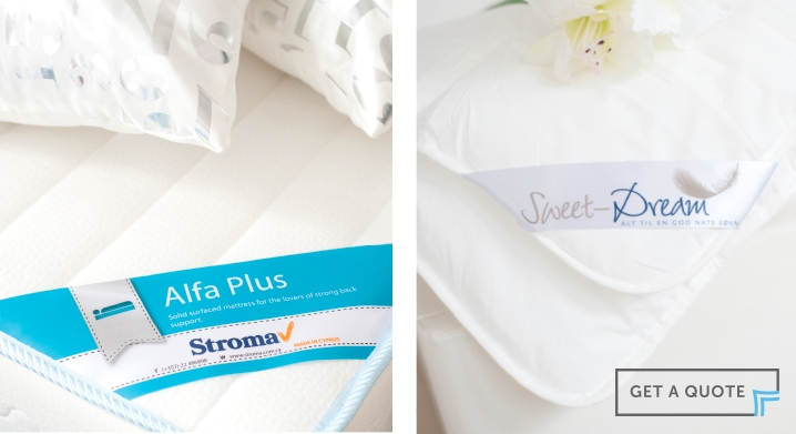 Printed Corner Labels for Mattresses