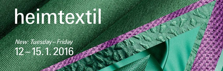 We are excited to be part of Heimtextil 2016 Fair Trade. We will be happy to meet you there if you are around.