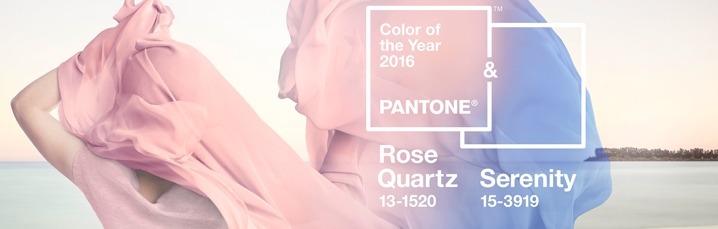 Rose quartz & serenity. Inspiration on  this year colours and their matches