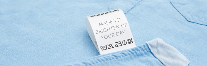 Fabric labels. Why not approach them with funny thoughts?