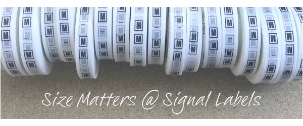 Ways to put the size on your labels. Inspiration on layouts! Size charts for clothing & home textiles